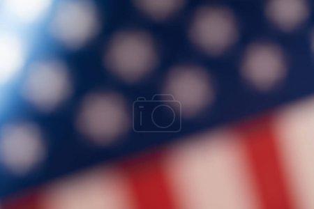 Photo pour Image floue du drapeau des États-Unis d'Amérique - image libre de droit