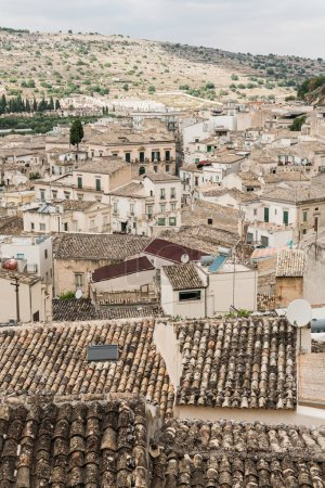Photo for Old city with small houses in scicli,  italy - Royalty Free Image