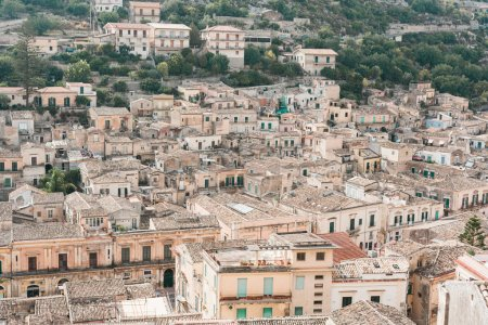 Photo for Ancient buildings and trees in modica, Italy - Royalty Free Image