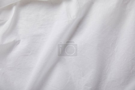 Photo for Top view of crumpled white cloth with copy space - Royalty Free Image