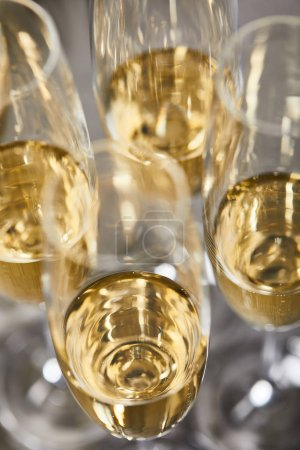 Photo for Sparkling wine in glasses for celebrating christmas eve - Royalty Free Image
