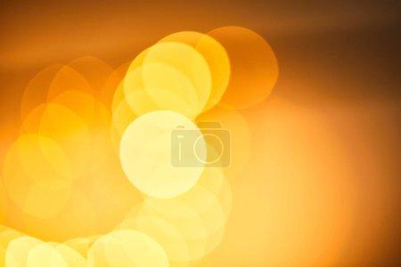 Foto de Festive blurred background, bokeh of yellow christmas lights. - Imagen libre de derechos