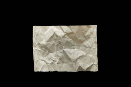 Photo pour Top view of empty crumpled vintage paper isolated on black - image libre de droit