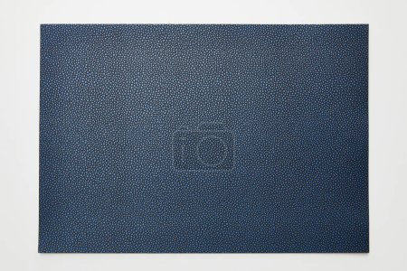 Photo for Top view of empty dotted blue paper on white background - Royalty Free Image