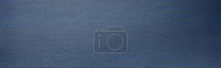top view of striped empty blue paper texture, panoramic shot