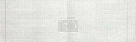 Photo pour Vue de dessus des feuilles de papier blanc vides, panoramique - image libre de droit
