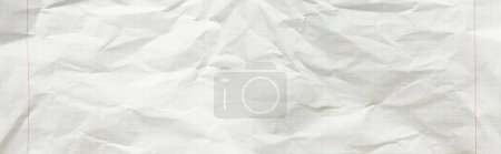 Photo for Top view of empty crumpled paper white texture, panoramic shot - Royalty Free Image