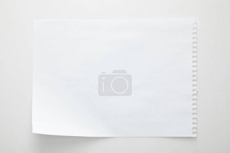 Photo for Top view of empty paper sheet on white background - Royalty Free Image