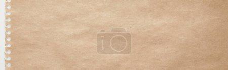 Photo pour Vue de dessus de la texture de papier artisanal vide, vue panoramique - image libre de droit