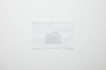 Foto de Vista superior del papel vacío aislado en blanco - Imagen libre de derechos