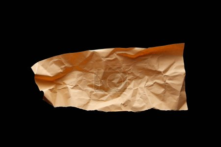 Photo pour Top view of empty crumpled paper isolated on black - image libre de droit
