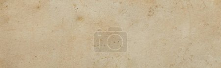 Photo for Top view of vintage dirty beige paper texture with copy space, panoramic shot - Royalty Free Image