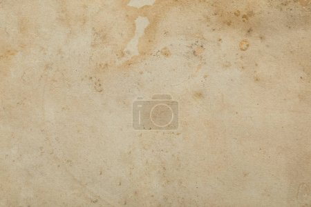 Photo pour Top view of vintage dirty beige paper texture with copy space - image libre de droit