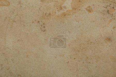 Photo pour Top view of vintage dirty beige paper texture with copy space - image libre de droit