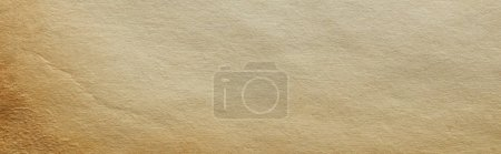 Foto de Vista superior de la textura de papel beige de época con espacio de copia, disparo panorámico. - Imagen libre de derechos
