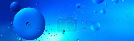 Photo pour Prise de vue panoramique du fond créatif abstrait de l'eau et de l'huile mélangées - image libre de droit