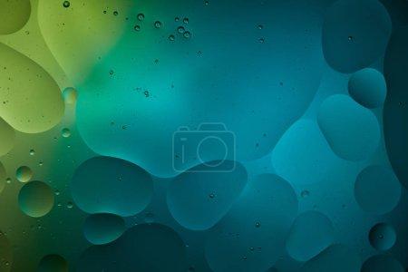 Photo pour Abstrait couleur turquoise fond d'eau et d'huile mélangées - image libre de droit