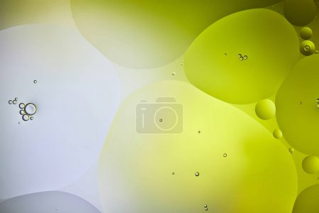 Photo for Green and grey color background from mixed water and oil bubbles - Royalty Free Image