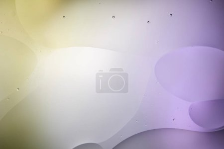 Beautiful purple and green color abstract background from mixed water and oil