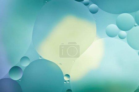 Photo pour Abstrait créatif turquoise fond de couleur de mélange d'eau et d'huile - image libre de droit