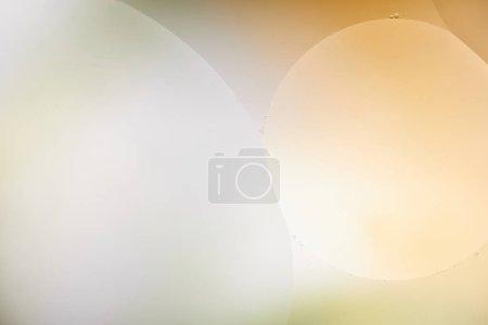 Photo pour Belle toile de fond abstraite d'un mélange d'eau et d'huile de couleur orange et grise - image libre de droit