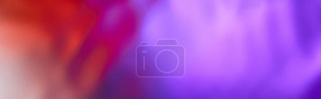 Photo for Panoramic shot of abstract purple and red color texture from mixed water - Royalty Free Image