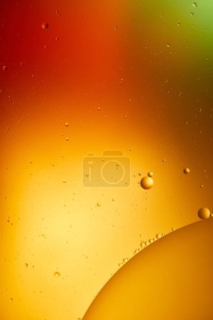 Photo for Orange, red and green color abstract background from mixed water and oil - Royalty Free Image
