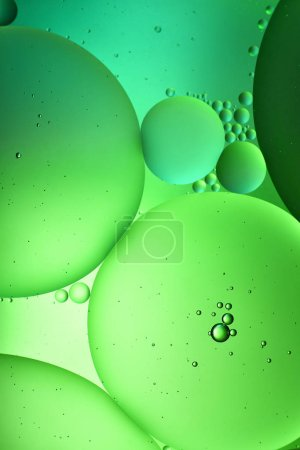 Photo for Abstract background from mixed water and oil in green color - Royalty Free Image