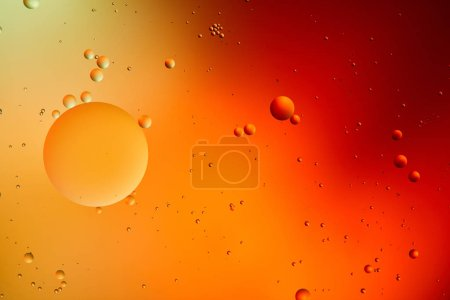 Photo for Orange and red color abstract background from mixed water and oil - Royalty Free Image