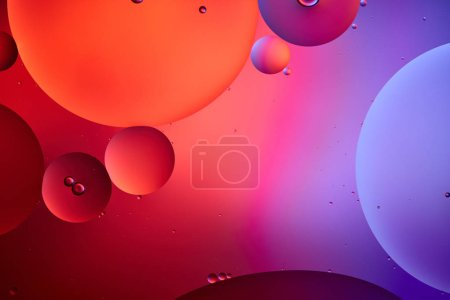 Photo for Creative abstract background from mixed water and oil bubbles in pink and purple color - Royalty Free Image