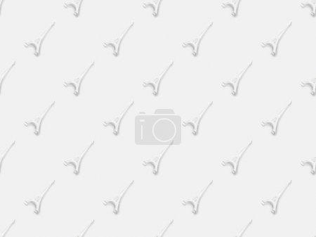 Photo pour Vue de dessus des petites statuettes de tour eiffel isolées sur blanc - image libre de droit