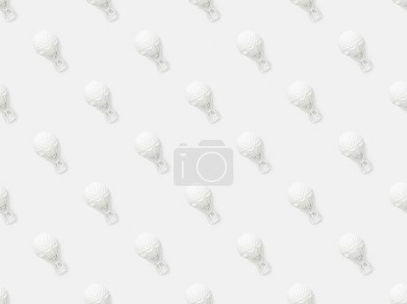 Photo pour Top vue de petits ballons à air figurines isolées sur blanc - image libre de droit