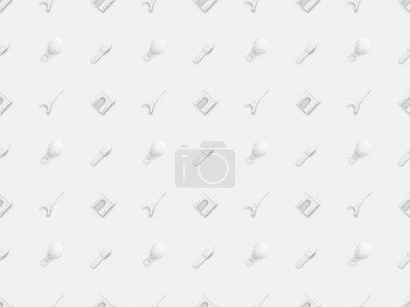 Photo pour Top vue de petits souvenirs de différents pays isolés sur du blanc - image libre de droit