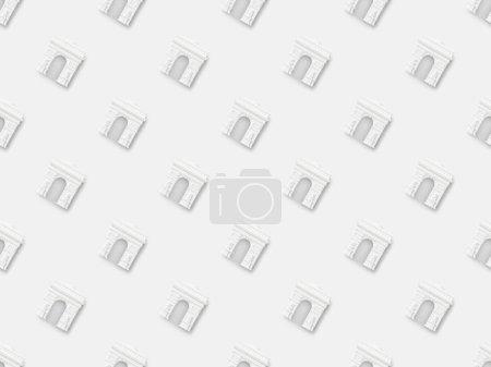 Photo pour Vue de dessus des petites statuettes arc de triomphe isolées sur blanc - image libre de droit