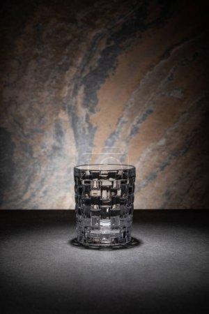 Photo for Clean and empty glass on textured background - Royalty Free Image