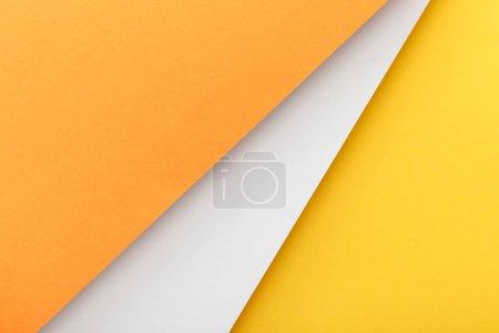 Photo pour Vue de dessus du fond jaune, orange et blanc - image libre de droit