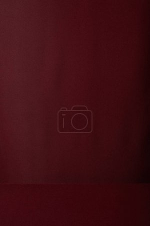 Photo for Burgundy soft textured cloth background with copy space - Royalty Free Image