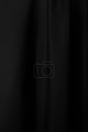 Photo for Black soft textured cloth background - Royalty Free Image