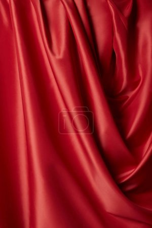 Photo for Close up view of pink and white soft and wavy fabric - Royalty Free Image