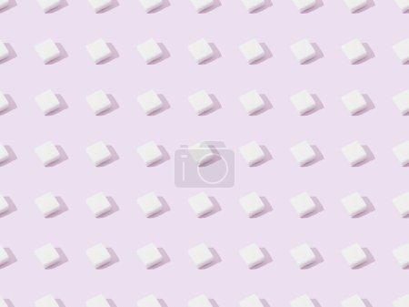 Photo pour Vue du dessus du sucre en grumeaux sur fond violet, sans couture - image libre de droit