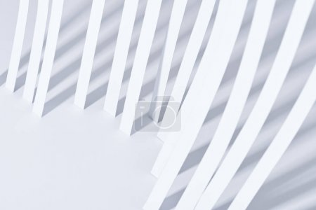 Photo for Close up view of paper stripes on white background - Royalty Free Image