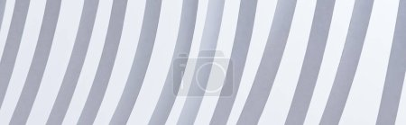 Photo for Close up view of paper stripes isolated on white, panoramic shot - Royalty Free Image