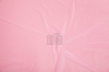 top view of pink plastic background texture