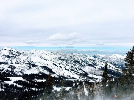 Winter majestic views around Wasatch Front Rocky M...