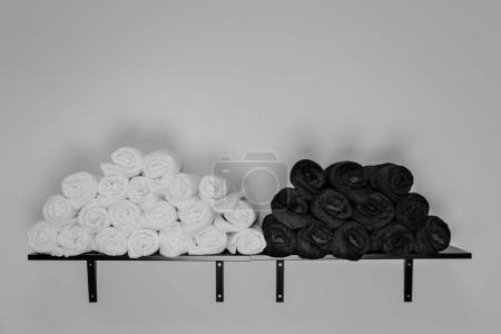 Hairdressing towels. Bathroom towels. Spa towels Black and white towels Hairdressing accessories...