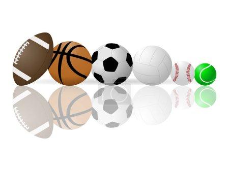 vektor bild von sportbaelle
