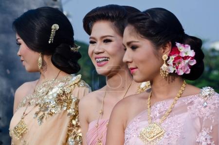 Thailand bride and bridesmaids.