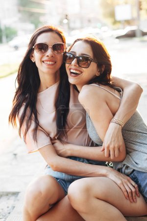 Two young women on a walk