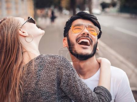 Stylish couple on the street
