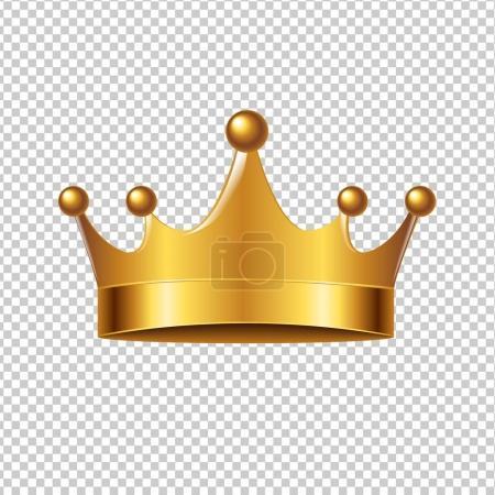 Illustration pour Couronne dorée avec maille dégradée, illustration vectorielle - image libre de droit